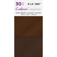 Crafter's Companion - Luxury Cardstock Pack - 30 Sheets - Browns