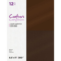 Crafter's Companion - Luxury Cardstock Pack - 12 Sheets - Browns