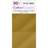 Crafter's Companion - Luxury Cardstock Pack - 30 Sheets - Gold