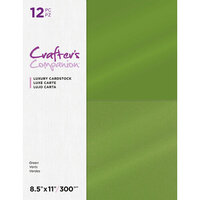 Crafter's Companion - Luxury Cardstock Pack - 12 Sheets - Greens
