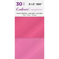 Crafter's Companion - Luxury Cardstock Pack - 30 Sheets - Pinks