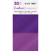 Crafter's Companion - Luxury Cardstock Pack - 30 Sheets - Purples