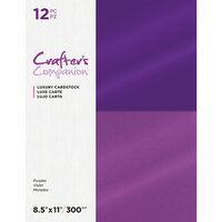 Crafter's Companion - Luxury Cardstock Pack - 12 Sheets - Purples