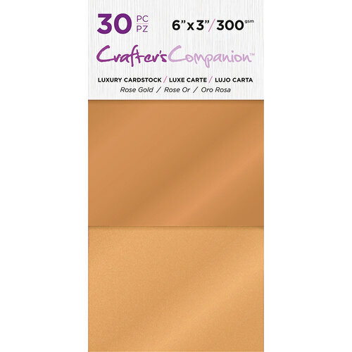 Crafter's Companion - Luxury Cardstock Pack - 30 Sheets - Rose Gold