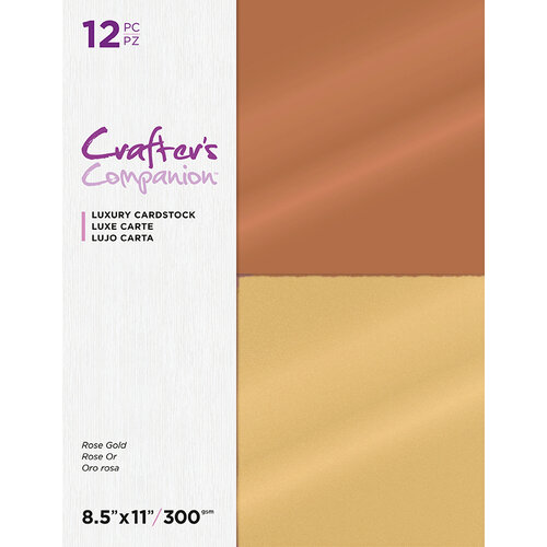 Crafter's Companion - Luxury Cardstock Pack - 12 Sheets - Rose Gold