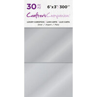 Crafter's Companion - Luxury Cardstock Pack - 30 Sheets - Silver