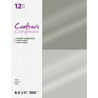 Crafter's Companion - Luxury Cardstock Pack - 12 Sheets - Silver