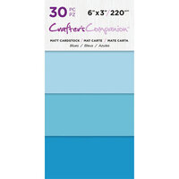 Crafter's Companion - Matte Cardstock Pack - 30 Sheets - Blues