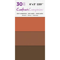 Crafter's Companion - Matte Cardstock Pack - 30 Sheets - Browns
