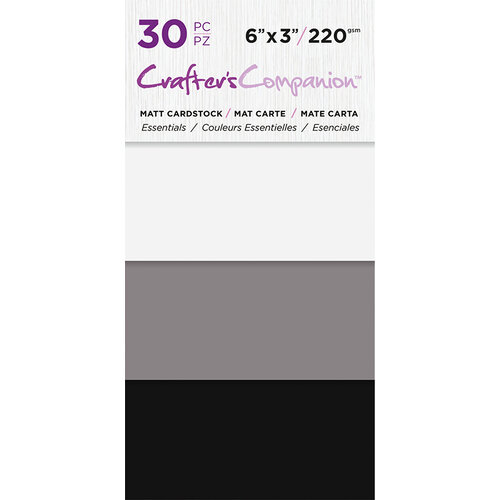 Crafter's Companion - Matte Cardstock Pack - 30 Sheets - Essentials