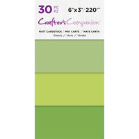 Crafter's Companion - Matte Cardstock Pack - 30 Sheets - Greens