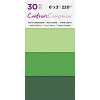 Crafter's Companion - Matte Cardstock Pack - 30 Sheets - Holly Greens