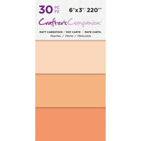 Crafter's Companion - Matte Cardstock Pack - 30 Sheets - Peaches
