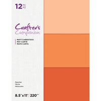 Crafter's Companion - Matte Cardstock Pack - 12 Sheets - Peaches