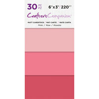 Crafter's Companion - Matte Cardstock Pack - 30 Sheets - Pinks