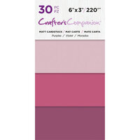Crafter's Companion - Matte Cardstock Pack - 30 Sheets - Purples