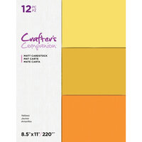 Crafter's Companion - Matte Cardstock Pack - 12 Sheets - Yellows