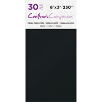 Crafter's Companion - Pearl Cardstock Pack - 30 Sheets - Black