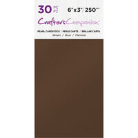 Crafter's Companion - Pearl Cardstock Pack - 30 Sheets - Brown
