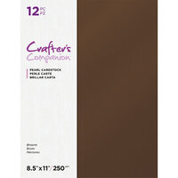 Crafter's Companion - Pearl Cardstock Pack - 12 Sheets - Brown
