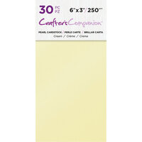 Crafter's Companion - Pearl Cardstock Pack - 30 Sheets - Cream