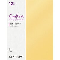 Crafter's Companion - Pearl Cardstock Pack - 12 Sheets - Cream