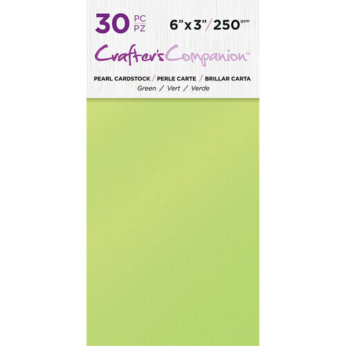 Crafter's Companion - Pearl Cardstock Pack - 30 Sheets - Green