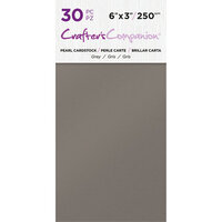 Crafter's Companion - Pearl Cardstock Pack - 30 Sheets - Grey