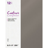 Crafter's Companion - Pearl Cardstock Pack - 12 Sheets - Grey