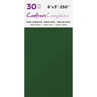 Crafter's Companion - Pearl Cardstock Pack - 30 Sheets - Holly Green