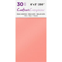 Crafter's Companion - Pearl Cardstock Pack - 30 Sheets - Pink