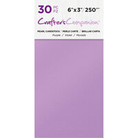 Crafter's Companion - Pearl Cardstock Pack - 30 Sheets - Purple