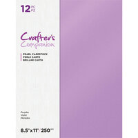 Crafter's Companion - Pearl Cardstock Pack - 12 Sheets - Purple