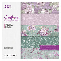 Crafter's Companion - 12 x 12 Paper Pad - Floral Fantasy