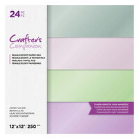 Crafter's Companion - 12 x 12 Pearl Paper Pad - Lovely Lilacs