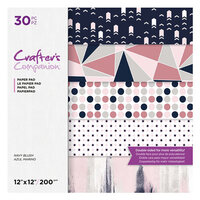Crafter's Companion - 12 x 12 Paper Pad - Navy Blush