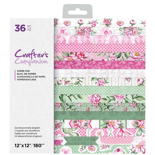 Crafter's Companion - 12 x 12 Paper Pad - Quintessentially English