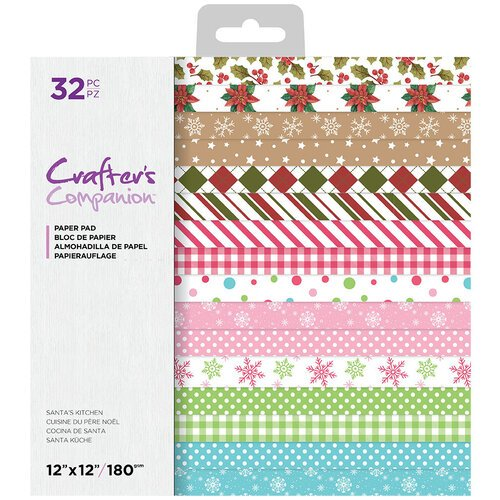 Crafter's Companion - 12 x 12 Paper Pad - Santa's Kitchen