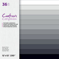 Crafter's Companion - 12 x 12 Textured Cardstock Pack - Neutral Tones