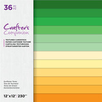 Crafter's Companion - 12 x 12 Textured Cardstock Pack - Sunflower Tones