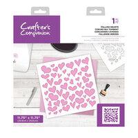 Crafter's Companion - Stencil - Falling Hearts