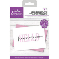 Crafter's Companion - Clear Photopolymer Stamps - Hello From Me To You