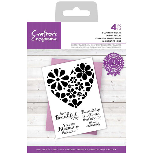 Crafter's Companion - Clear Photopolymer Stamps - Blooming Heart