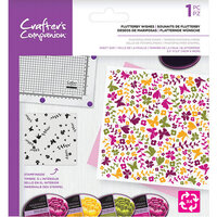Crafter's Companion - Clear Photopolymer Stamp - Flutterby Wishes