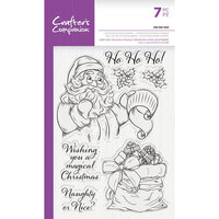 Crafter's Companion - Clear Photopolymer Stamps - Ho Ho Ho