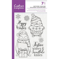 Crafter's Companion - Clear Photopolymer Stamps - Happy Winter