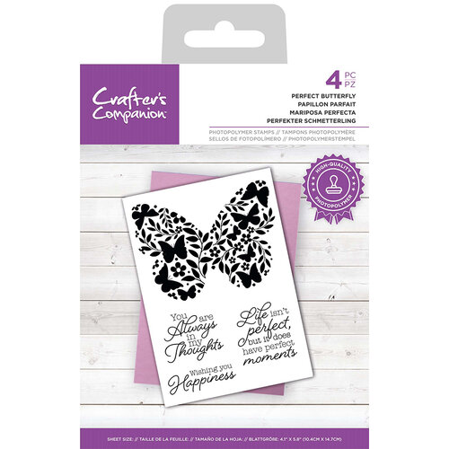 Crafter's Companion - Clear Photopolymer Stamps - Perfect Butterfly