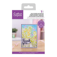 Crafter's Companion - Clear Photopolymer Stamps - Wild Flowers and Butterflies