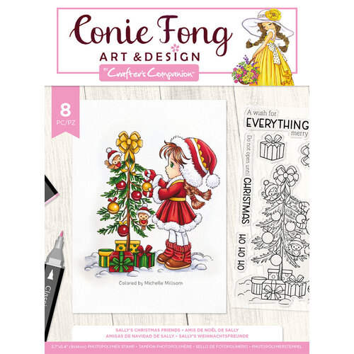Crafter's Companion - Clear Photopolymer Stamps - Sally's Christmas Friends