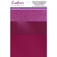 Crafter's Companion - Luxury Mixed Cardstock Pack - 30 Sheets - Fuchsia